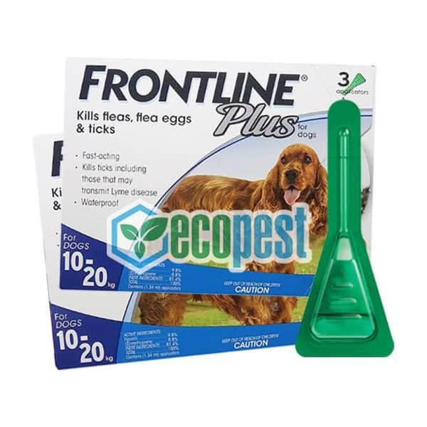 Frontline Plus trị ve rận trứng bọ chét chó 10kg đến 20Kg