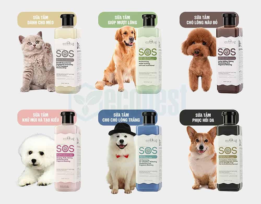 Sữa tắm Chó Mèo SOS Shampoo