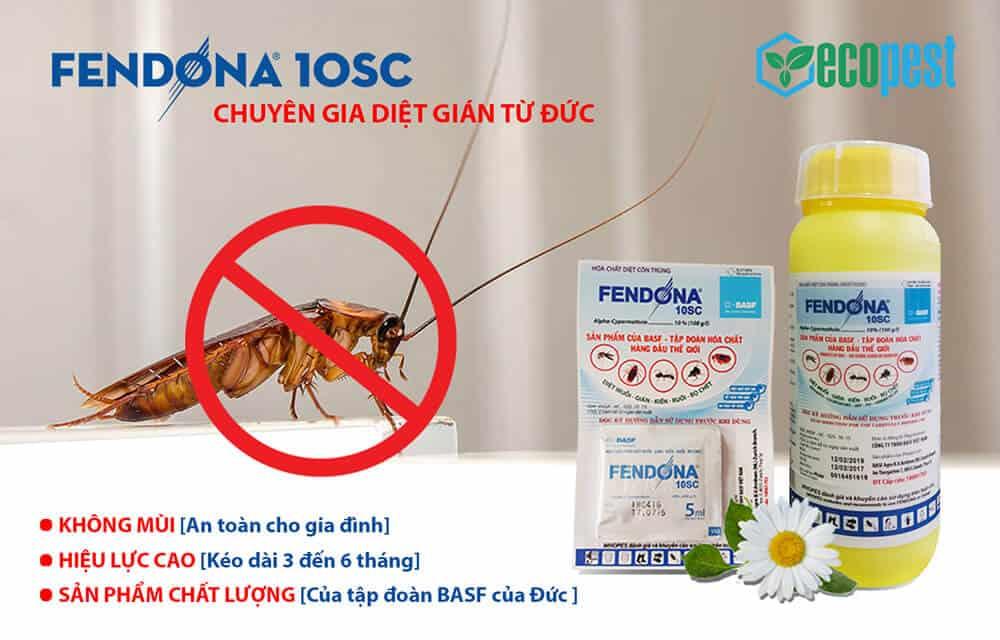 Fendona 10SC thuốc diệt gián, kiến, muỗi, bọ chét từ Đức