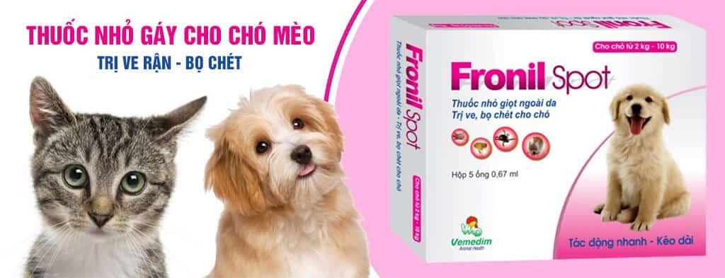 Fronil Spot thuốc nhỏ gáy trị ve rận bọ chét cho chó mèo