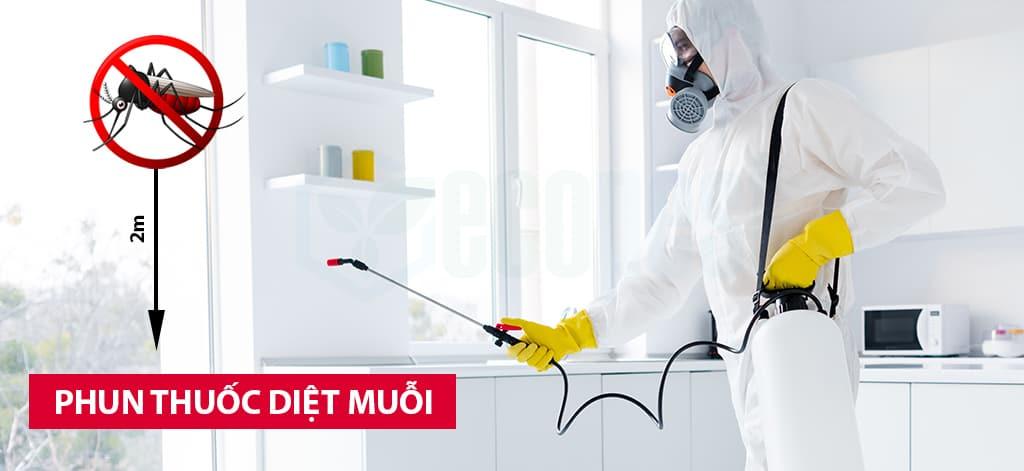 Phun thuốc diệt muỗi tại nhà đúng cách
